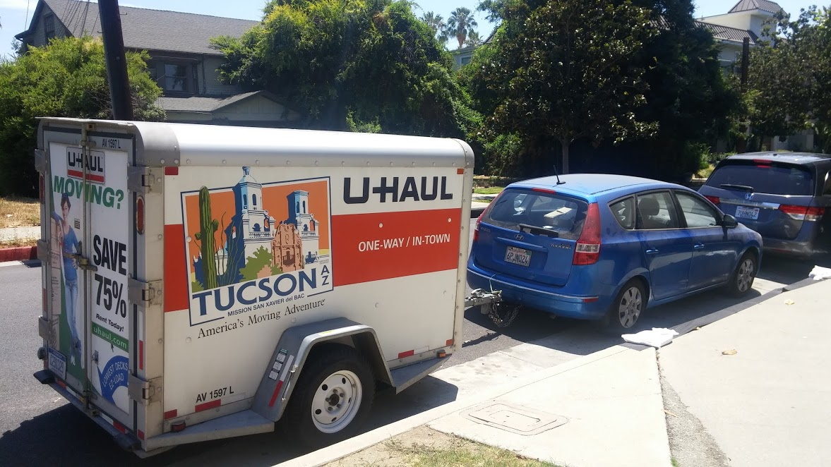 elantra towing uhaul trailer