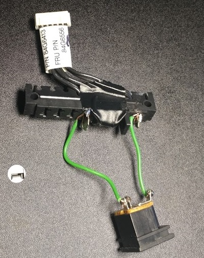 Thinkpad 755 fake battery DC plug connector